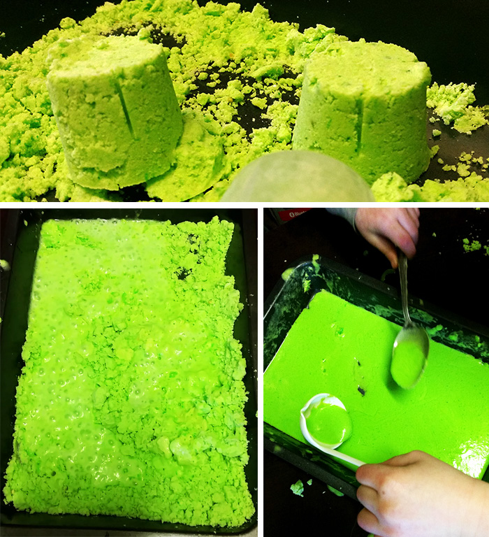 3 in 1 sand, fizz and slime