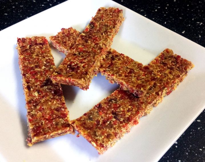 Cranberry, Coconut and Goji Bars