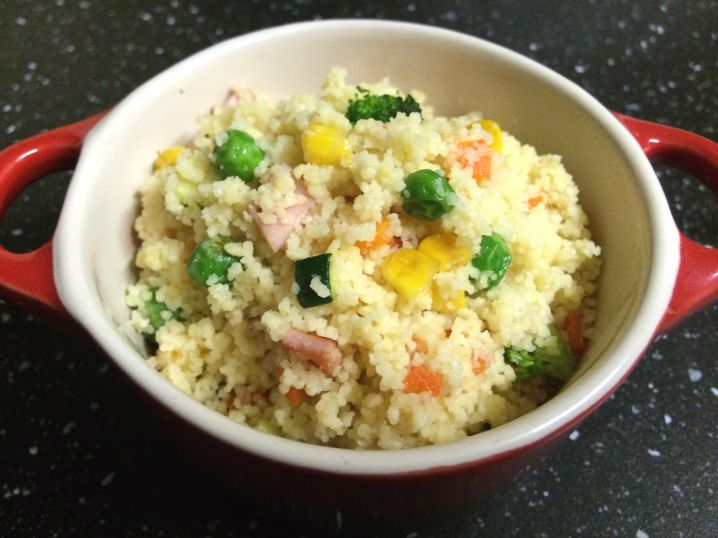 Five Veg Bacon And Sesame Couscous