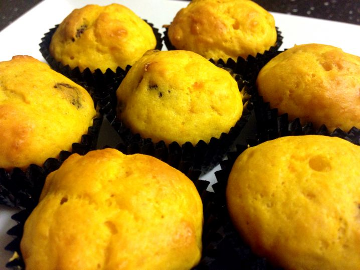 Pumpkin, Carrot and Sultana Mini Muffins
