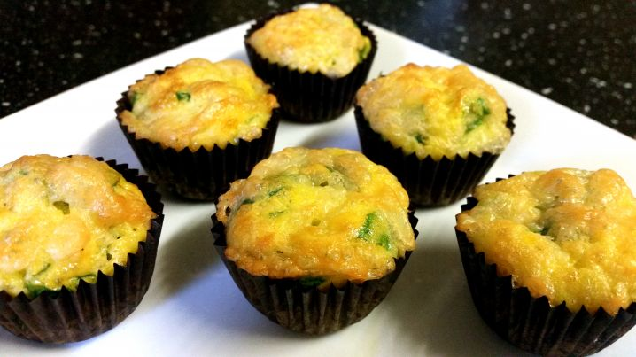 Spinach and Cheese Mini Muffins