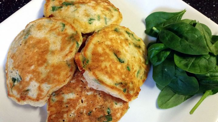 Spinach and Cheese Wholemeal Pancakes
