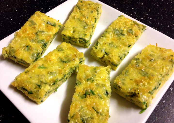 Spinach and Zucchini Breakfast Fingers