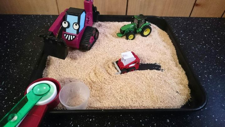 Wheat Bran Mini Sand Pit