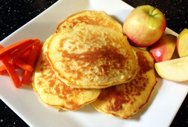 Apple Carrot Pancakes